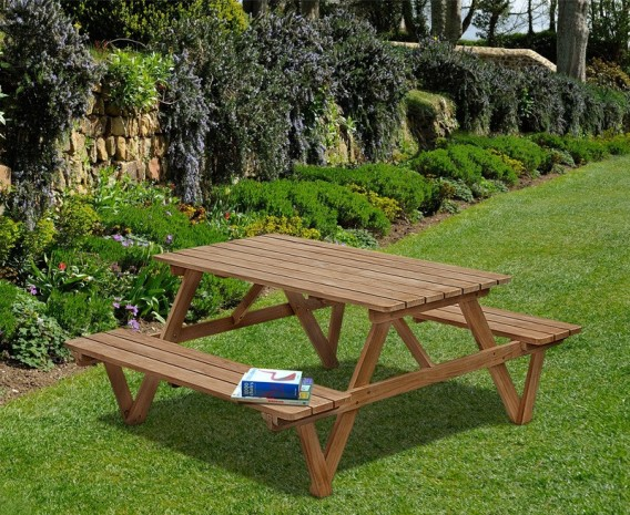 ... 5ft Teak Picnic Bench Picnic Table ...