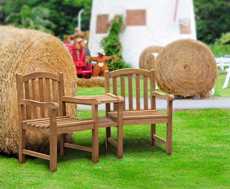 wooden garden love seat clivedon companion lgjpg - Wooden Garden Furniture Love Seats