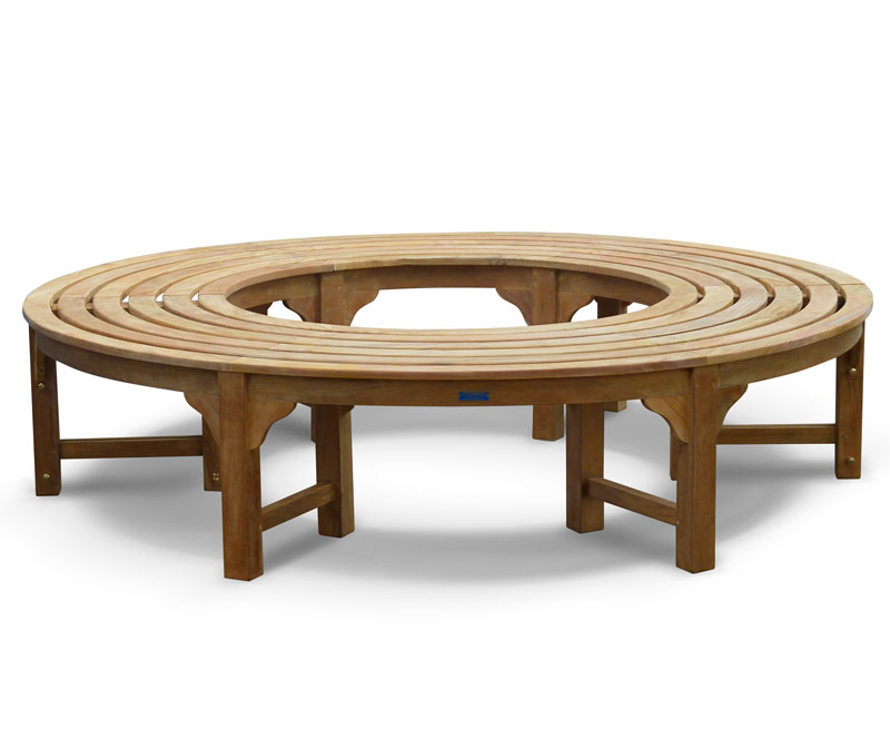 Saturn teak circular tree seat backless wrap around tree bench 190cm lindsey teak Circular tree bench