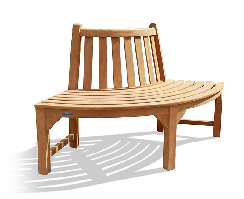 Teak Quarter Tree Seat Bench - Lindsey Teak