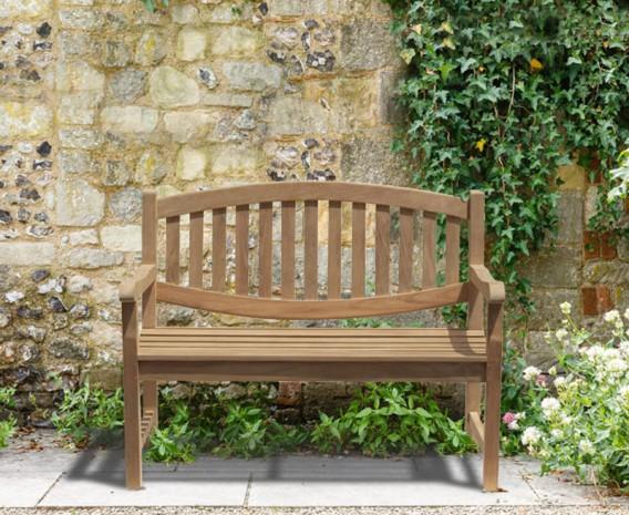 ascot teak 2 seater garden bench small garden - Small Garden Bench