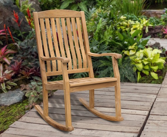 Garden Rocking Chair Teak Outdoor Patio Rocker Lindsey