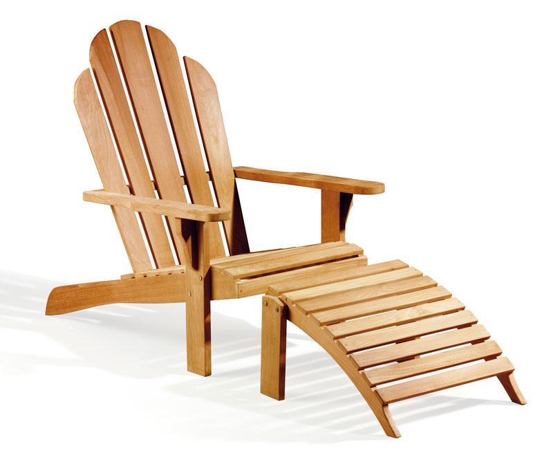 Adirondack Chair Teak With Free Leg Rest on Cape Cod Adirondack Chair