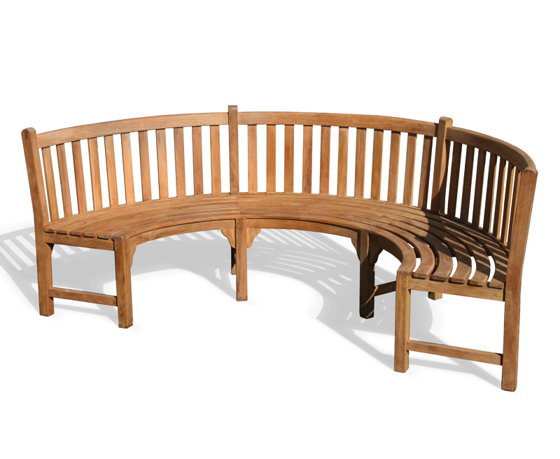 Henley teak curved garden bench lindsey teak Curved bench seating