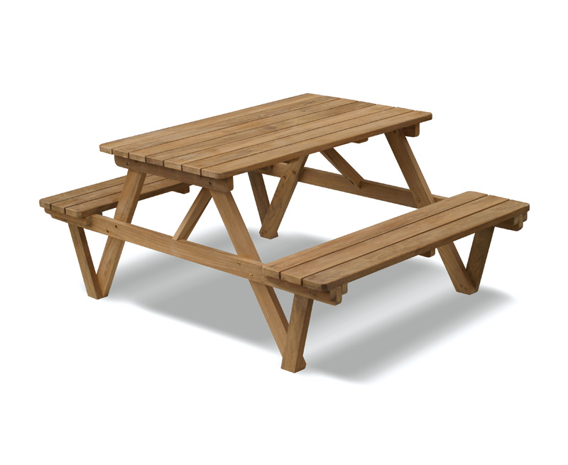 Ft Teak Picnic Bench Lindsey Teak - Teak picnic table with benches
