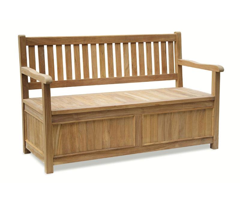 Windsor Teak Garden Storage Bench with