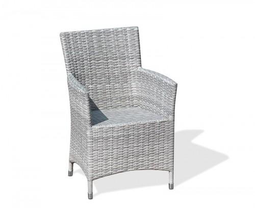 Grey Marble Riviera Rattan Armchair