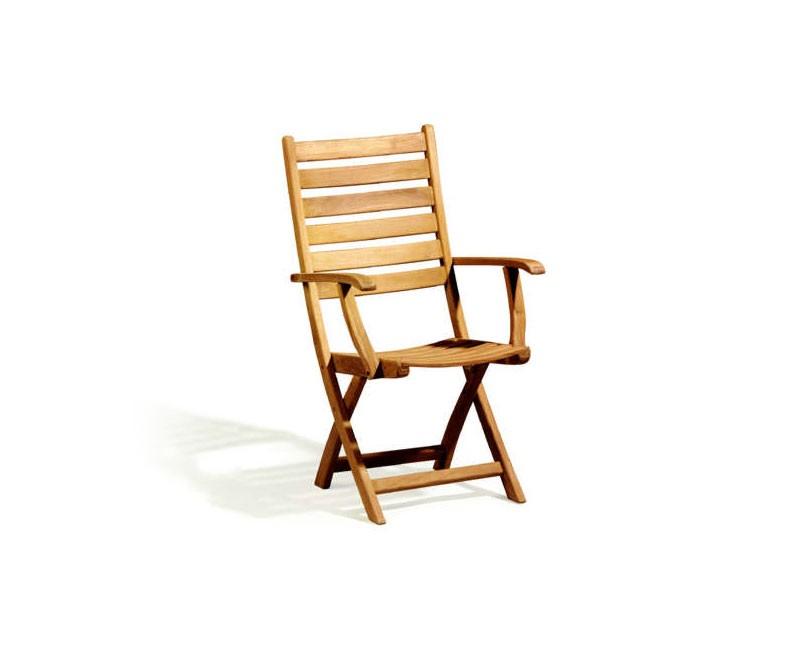 Suffolk Teak Folding High back Garden Chair Lindsey Teak