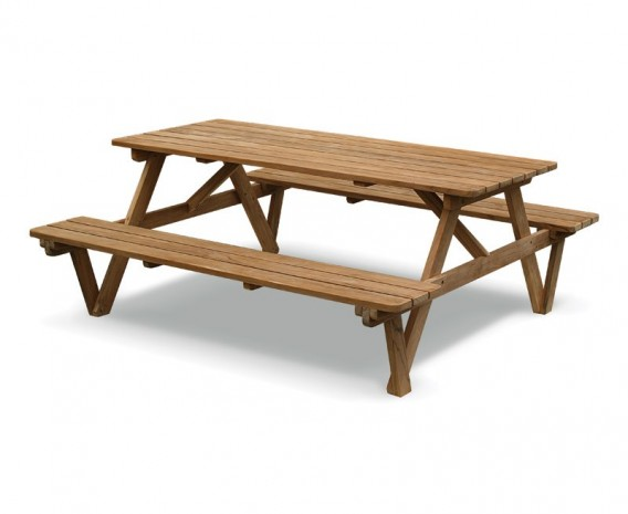 Attirant Lt152_picnic_bench_180 Lg; Teak 6ft Garden Pub Bench Teak Picnic Table.  ...