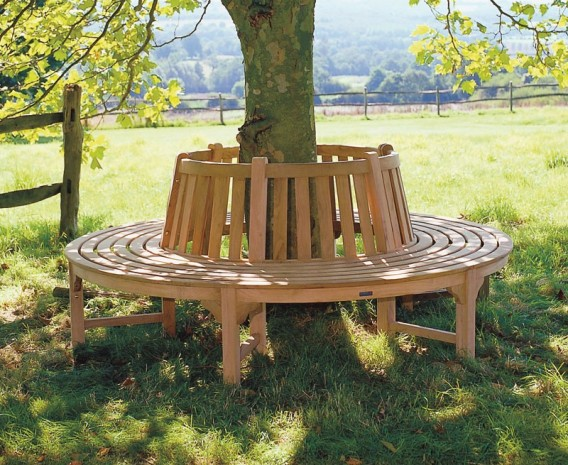 teak circular tree bench 220cm lindsey teak