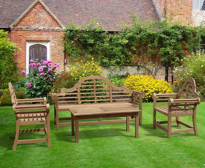 Teak Lutyens Garden Bench Table And Chair Set With & Garden Bench And Table Set - Castrophotos