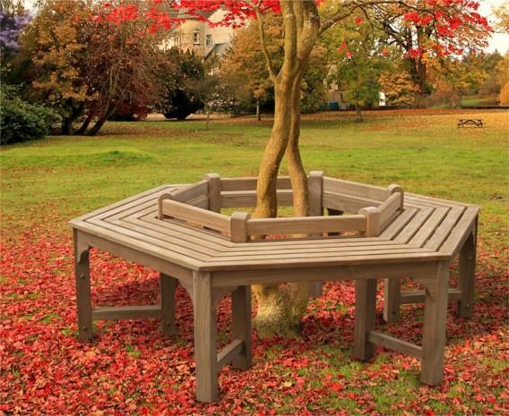 ... Teak Tree Seat Hexagonal Low Back Hexagonal Tree