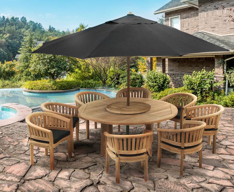Titan Garden 8 Seater Teak Wooden Patio Dining Set ...
