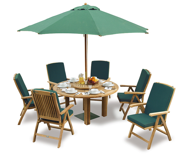 ... 6 Seater Round Patio Table and Reclining Chairs Set. CS404-titan-round- table-150_bali-reclining-chair_lg.jpg ...  sc 1 st  Lindsey Teak & Titan Teak 6 Seater Round Patio Table and Reclining Chairs Set ...