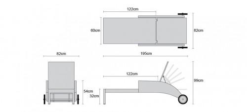Rattan Sun Lounger Dimensions
