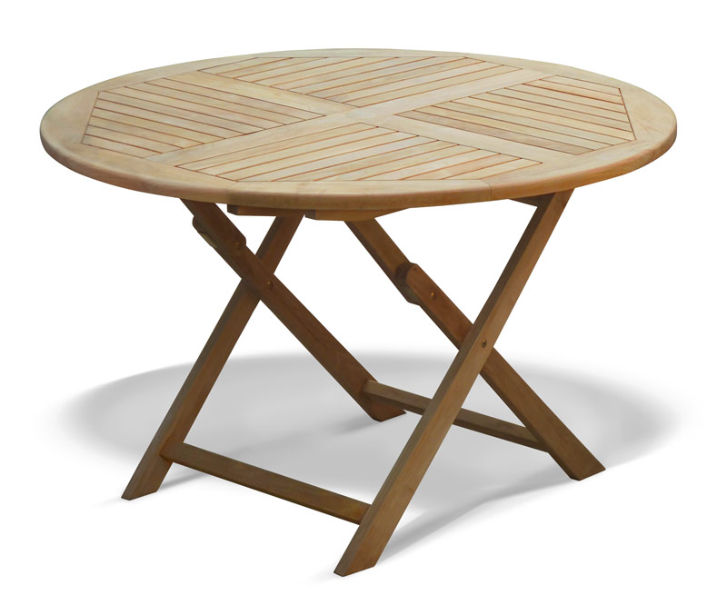 LT043 SUFFOLK FOLDING ROUND TABLE 120 STRAIGHT LEGS  ...