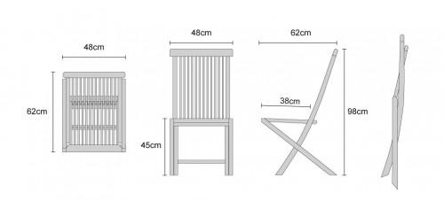 Ashdown Side Chair Dimensions