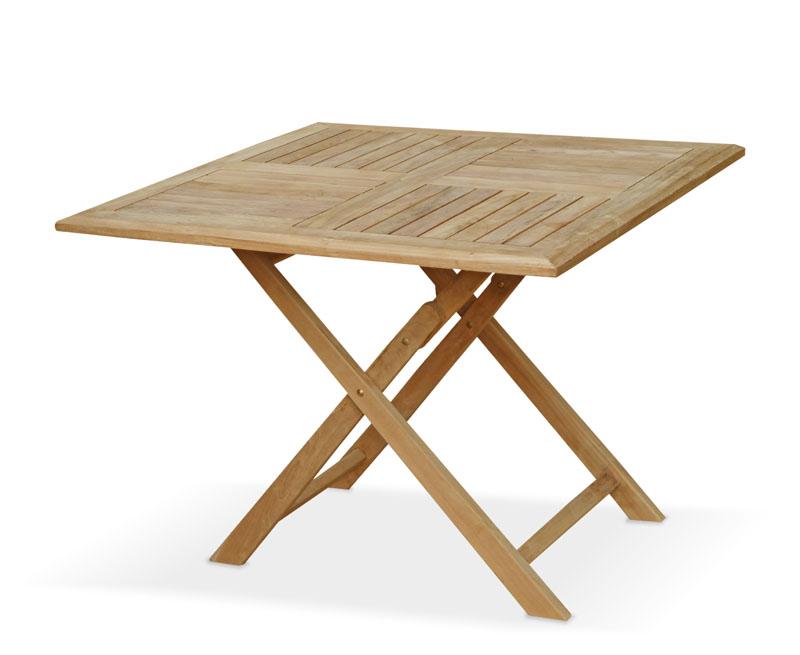 Suffolk Teak Square Folding Table 1m Lindsey Teak