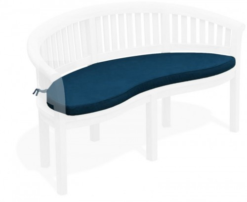 Navy Blue Banana Bench Cushion