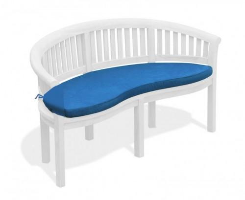 Azure Blue Banana Bench Cushion