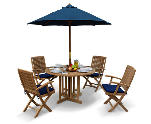 Table and chair set outdoor patio teak dining set lindsey teak - Rimini Garden Octagonal Gateleg Table And Arm Chairs Set