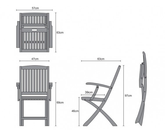 Brompton 6 Seater Extending Garden Table And Folding