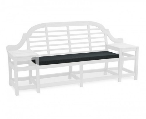 Black Cheltenham 3-Seater Bench Cushion
