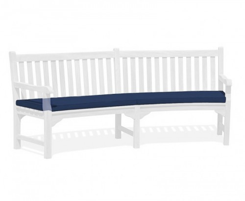 Navy Blue Connaught Bench Cushion