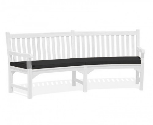 Black Connaught Bench Cushion