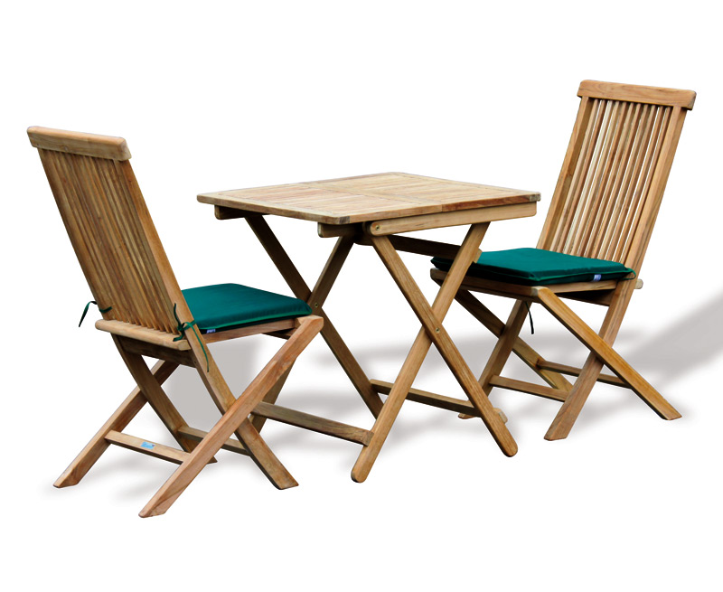rimini teak outdoor garden table and 2 chairs patio dining set