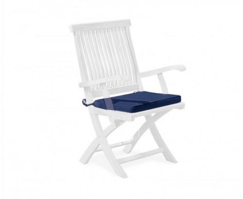 Navy Blue Folding Garden Chair Cushion