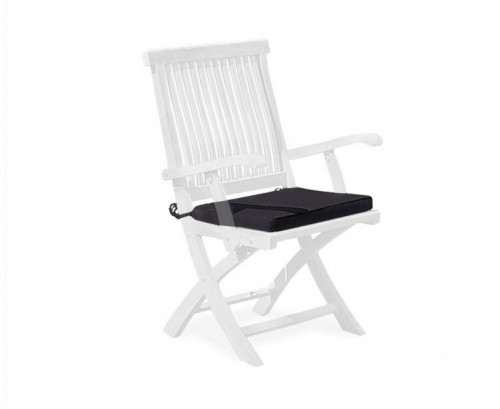 Black Folding Garden Chair Cushion
