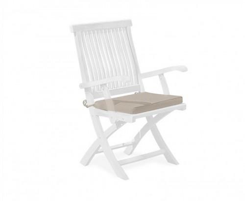 Taupe Folding Garden Chair Cushion