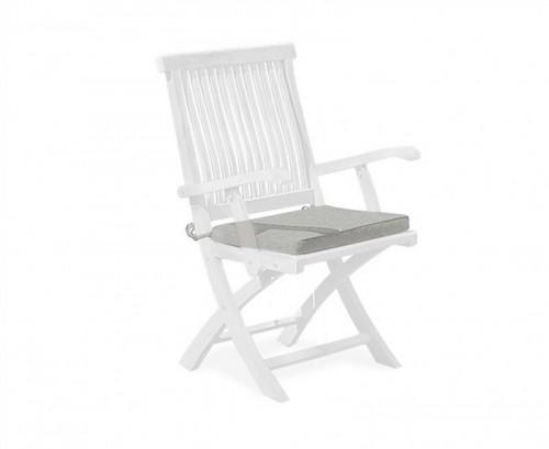 Grey Marl Folding Garden Chair Cushion