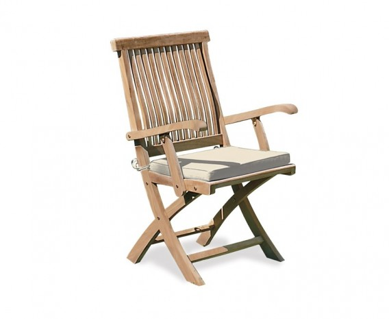 ... Folding Outdoor Chair Cushion With Ties ...