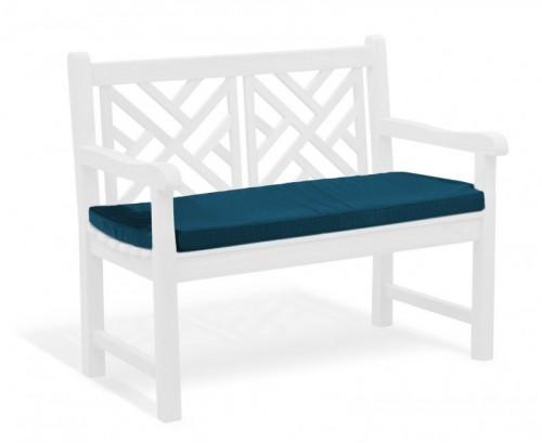 Navy Blue 2-Seater Garden Bench Cushion
