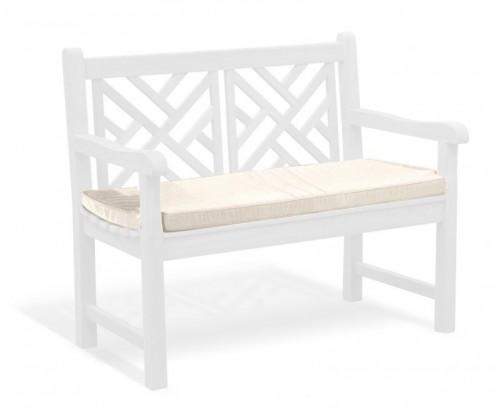 Natural 2-Seater Garden Bench Cushion