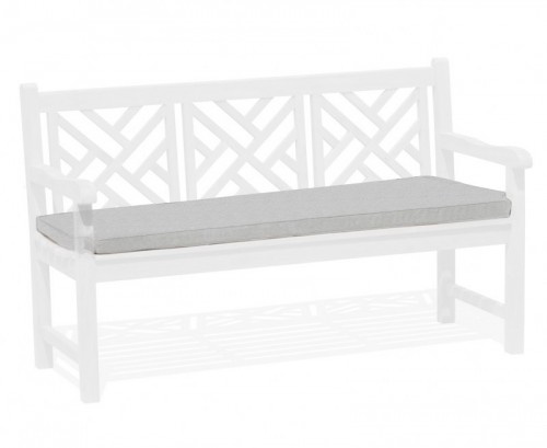 Grey Marl 3-Seater Garden Bench Cushion