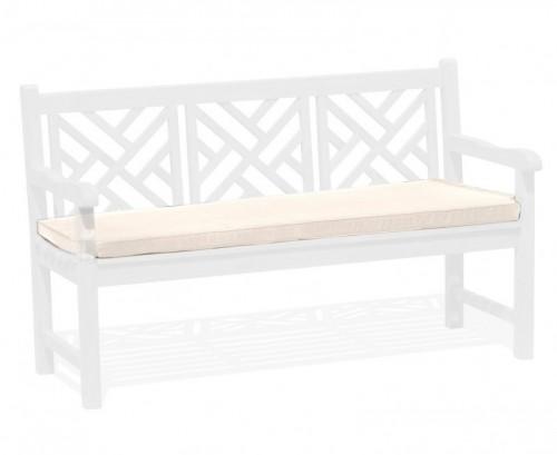 Natural 3-Seater Garden Bench Cushion