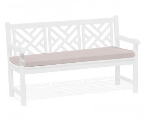 Taupe 3-Seater Garden Bench Cushion