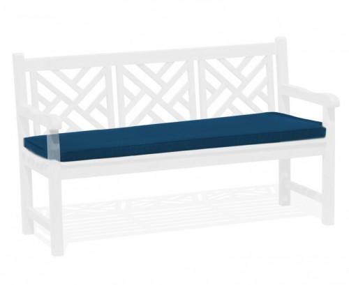 Navy Blue 3-Seater Garden Bench Cushion