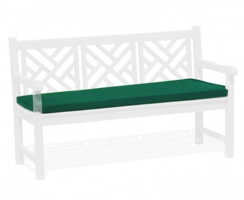 Forest Green 3-Seater Garden Bench Cushion