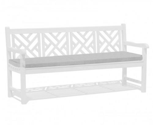 Grey Marl 4-Seater Garden Bench Cushion