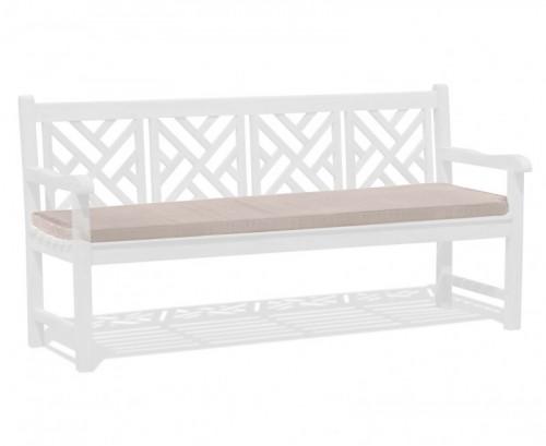 Taupe 4-Seater Garden Bench Cushion