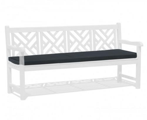 Black 4-Seater Garden Bench Cushion
