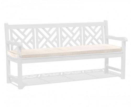 Natural 4-Seater Garden Bench Cushion