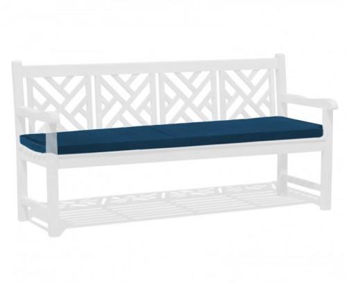 Navy Blue 4-Seater Garden Bench Cushion
