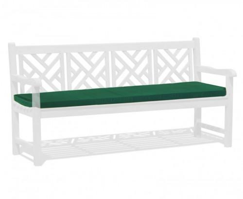 Forest Green 4-Seater Garden Bench Cushion