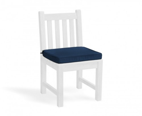 Navy Blue Garden Dining Chair Cushion