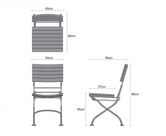 Garden Folding Bistro Dining Table and Chairs - Outdoor Patio Bistro ...